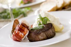 Steak and lobster Stock Photos