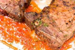 Steak, macro Stock Photo