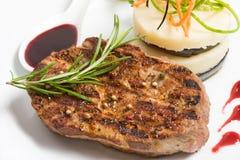 Steak and Mashed Potato Stock Photos
