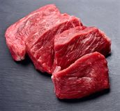 Steak of meat close up Stock Photos
