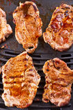 Steak meat grilled on barbecue. Steak meat grilled on electric barbecue Royalty Free Stock Images