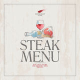 Steak menu. Royalty Free Stock Images