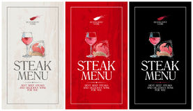 Steak menu. Royalty Free Stock Photo