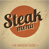 Steak menu vintage print Royalty Free Stock Photography