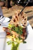 Steak mit Kräutern Stockbild