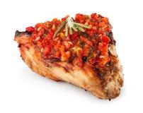 Steak mit Rosmarin und adzhika Stockbild