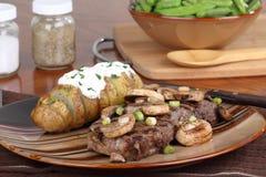 Steak With Mushroom Dinner Stock Photography
