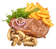 Steak And Mushroom Meal Stock Image