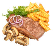 Steak And Mushroom Meal Royalty Free Stock Photography