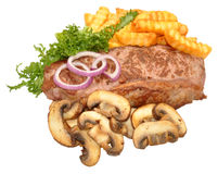 Steak And Mushroom Meal Stock Images