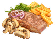 Steak And Mushroom Meal Royalty Free Stock Image