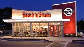 Steak'n-Erschütterung stockbild