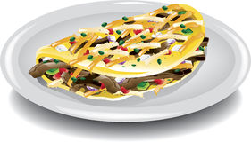 Steak Omelet Royalty Free Stock Photography