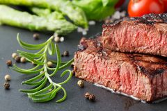 Free Steak On Slate Royalty Free Stock Images - 126338099