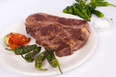 Steak with peppers Royalty Free Stock Photography