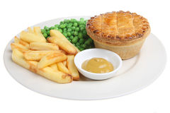Steak Pie and Chips Stock Image