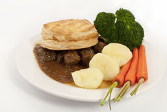 Steak pie dinner Royalty Free Stock Photos