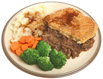 Steak Pie Dinner Plate Royalty Free Stock Photography