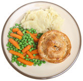 Steak Pie and Mash Royalty Free Stock Images