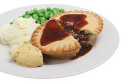 Steak Pie & Mash Royalty Free Stock Photo