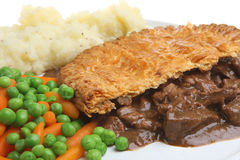 Steak Pie & Mashed Potato Stock Images