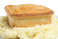 Steak Pie & Mashed Potato Royalty Free Stock Images