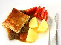 Steak pie meal horizontal Royalty Free Stock Images