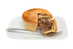 Steak pie on a plate Royalty Free Stock Photos
