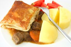 Steak pie with potato Stock Photo
