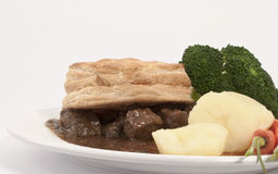 Steak Pie and Veg Dinner Stock Photo