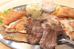 Steak dinner Stock Photos