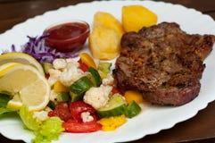 Steak plate Stock Image