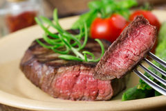 Steak on plate Stock Photography
