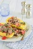 Steak Poke Papaya Royalty Free Stock Images
