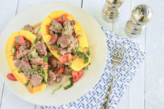 Steak Poke Papaya Stock Image