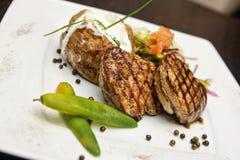 Steak with potato Stock Photo
