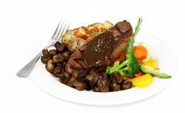 Steak and potato stock photo