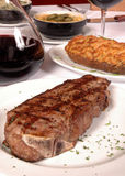 Steak and potato Royalty Free Stock Image