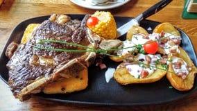 Steak. With potato Stock Image