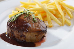Steak with potato Royalty Free Stock Photography