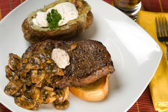 Steak and Potato Dinner Royalty Free Stock Photos