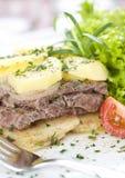 Steak with potatoes Stock Photo