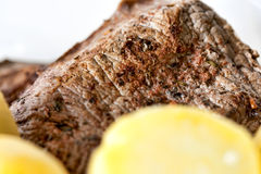 Steak with Potatoes Stock Photo