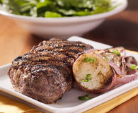 Steak and potatoes dinner Stock Images