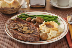 Steak and potatoes Stock Photography