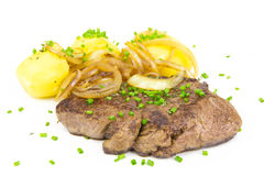 Steak-potatos 4 Royalty Free Stock Image