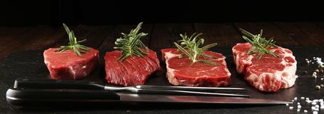 Steak raw. Barbecue Rib Eye Steak, dry Aged Wagyu Entrecote Steak
