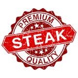 Steak red vintage stamp Stock Photo