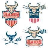Steak Restaurant Label Royalty Free Stock Images