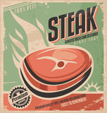Steak retro poster design Stock Images